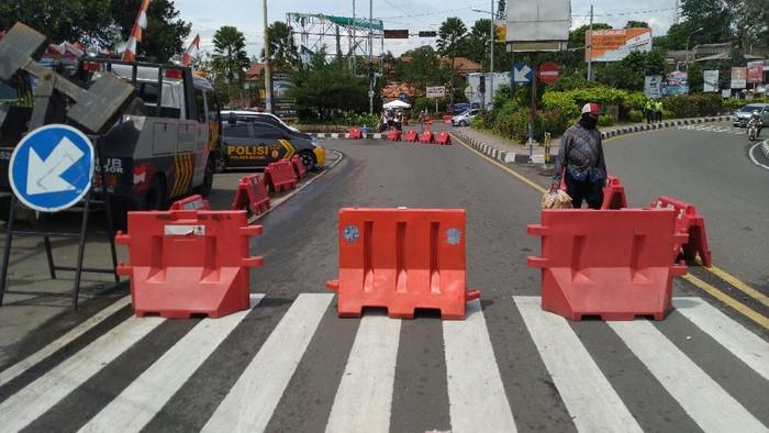 One way di Puncak Bogor arah Jakarta (Foto: Sachril/detikcom)