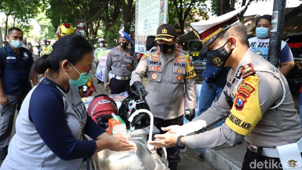 Operasi Zebra di Mojokerto, Polisi Edukasi Tertib Lalin dan Prokes