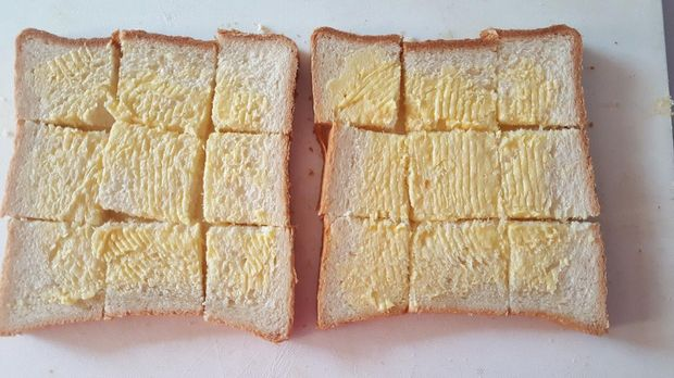 Roti Panggang Keju dan Bawang