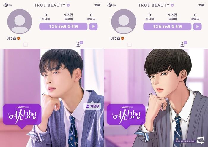 cha eun woo di true beauty