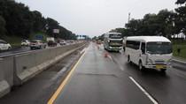 Contraflow Diberlakukan di Km 65-47 Tol Jakarta-Cikampek Arah Jakarta