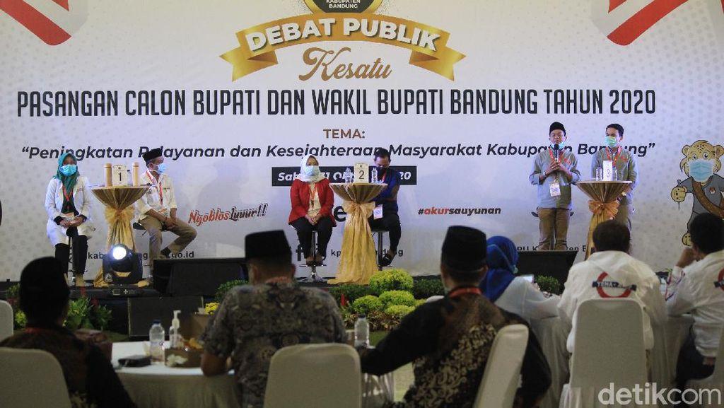 Debat Perdana Pilbup Bandung Tanpa Yel-yel Pendukung Calon