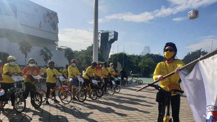 Kemenpora Bersepeda Sambut Hari Sumpah Pemuda, Sabtu (31/10/2020)