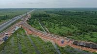 Jalan Tol Trans Sumatera Ruas Simpang Indralaya - Muara Enim seksi Indralaya - Prabumulih.Foto: Dok. PT Hutama Karya (Persero)