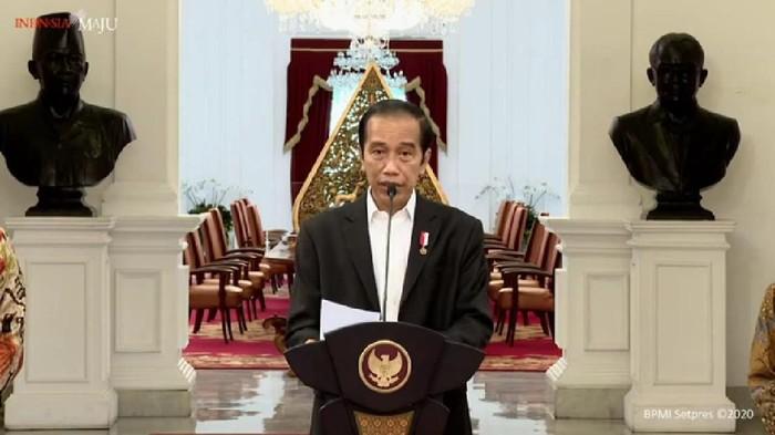 Presiden Joko Widodo (Jokowi) menyampaikan sikap pemerintah terhadap sitauasi yang berpotensi memecah persatuan umat beragama (YouTube Sekretariat Presiden)