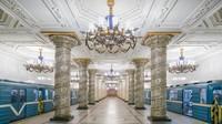 Megahnya Interior Stasiun MRT di Rusia, Serasa Masuk Istana!