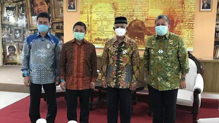 Elite Partai Gelora menemui Ketum PP Muhammadiyah Haerdar Nashir, di Yogyakarta, Sabtu (31/10/2020).