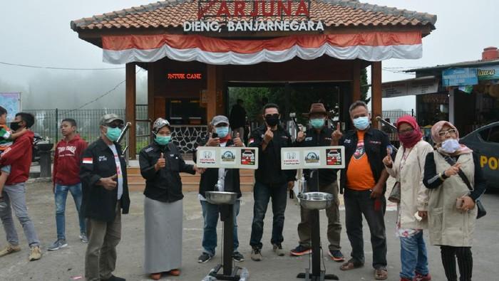Salut, Komunitas Honda BR-V Sumbang Fasilitas Cuci Tangan di Kawasan Dieng