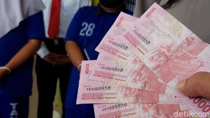 Empat orang pengedar dan pencetak uang palsu ditangkap di Boyolali, Senin (2/11/2020).
