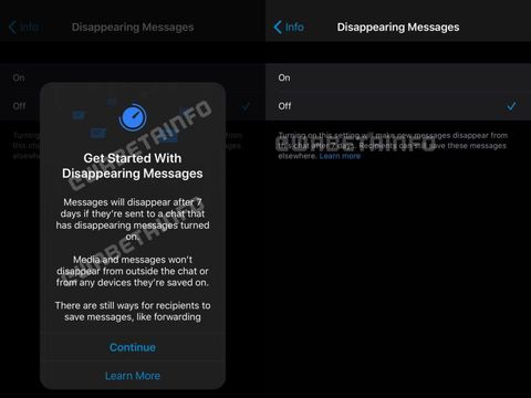 Fitur Disappearing Messages di WhatsApp
