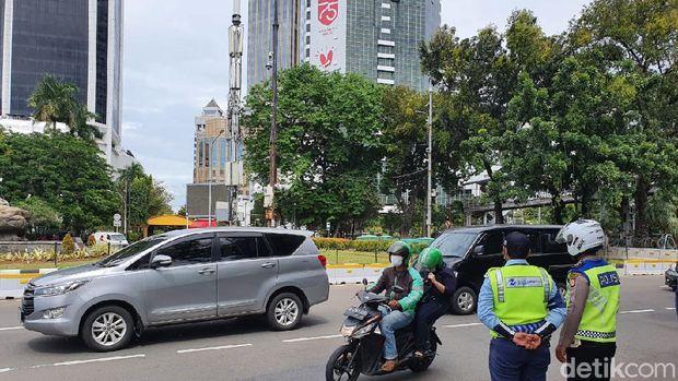 Kondisi di Patung Kuda jelang demo buruh (Isal/detikcom)