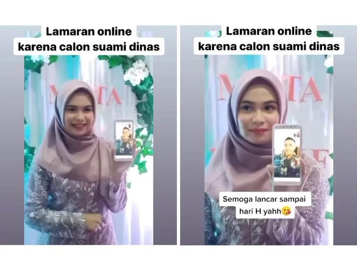 Kisah wanita yang menjalani lamaran online karena calon suami sedang dinas