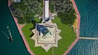 Potret digital Patung Liberti di New York, AS, dari ketinggian(dok Budget Direct)
