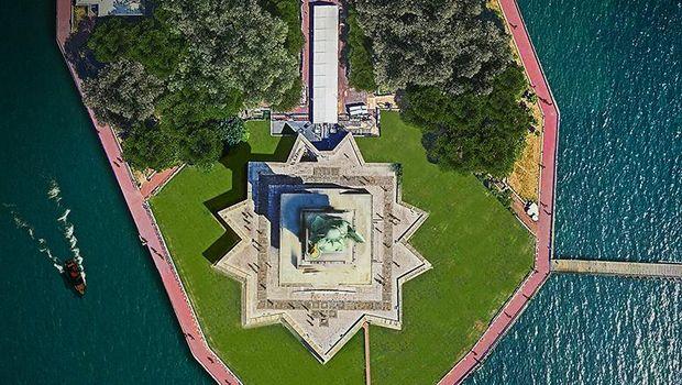 Aneka landmark dunia dari udara.