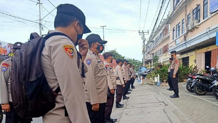Polres Gowa kirim personel bantuan amankan aksi massa di Makassar (dok. Istimewa).