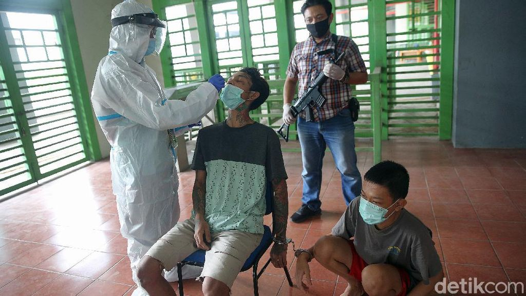 Tahanan di Bekasi Jalani Tes Swab Guna Cegah Corona