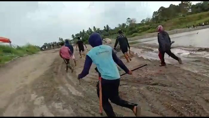 dua kelompok warga di Sidrap nyaris bentrok gegara tambang pasir