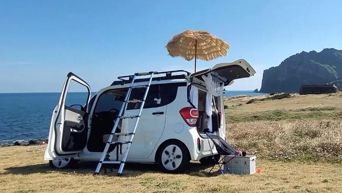 KIA Ray dimodifikasi jadi camper van