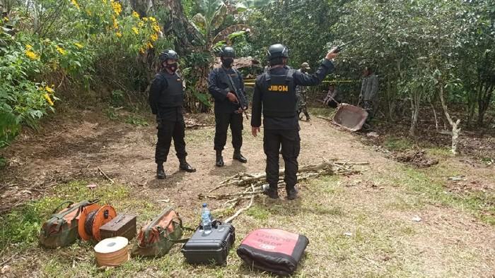 Tim Jibom Lakukan Disposal Terhadap Mortir yang Ditemukan Warga di Tapanuli Utara