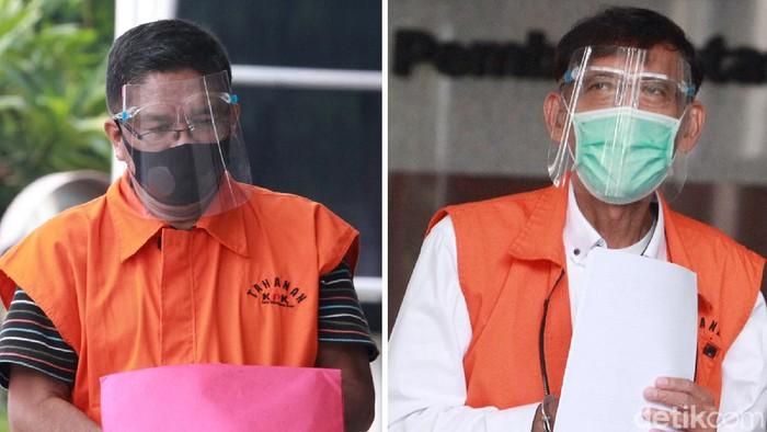 Ahmad Husein Hutagalung dan Robert Nainggolan menjalani pemeriksaan di KPK. Dua eks anggota DPRD Sumut itu diperiksa terkait kasus suap yang menjerat keduanya.