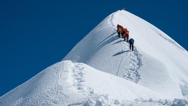 Treking di Gunung Everest, Nepal.