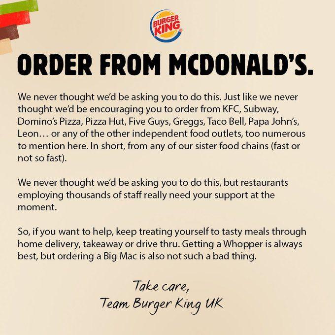Burger King Minta Pelanggan Beli Makanan di McDonald's dan Warteg