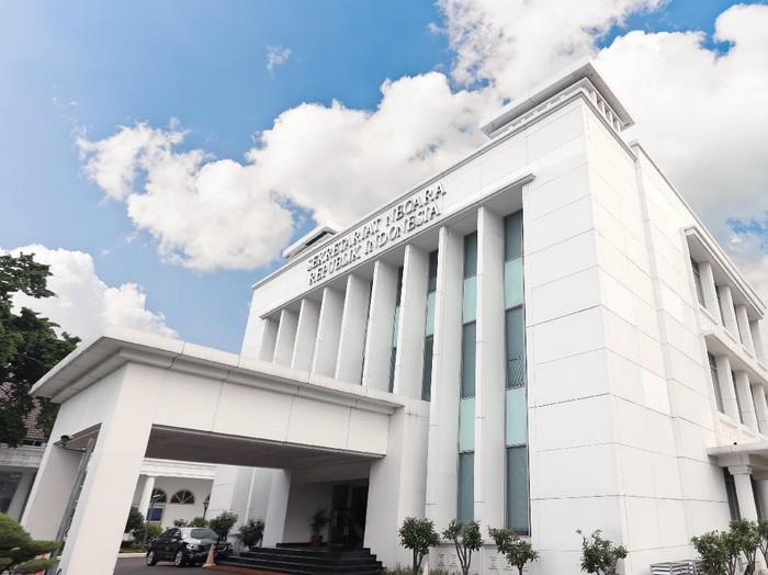 Ilustrasi gedung Setneg, Jakarta.