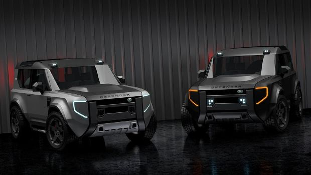 Rendering Land Rover 'Baby' Defender