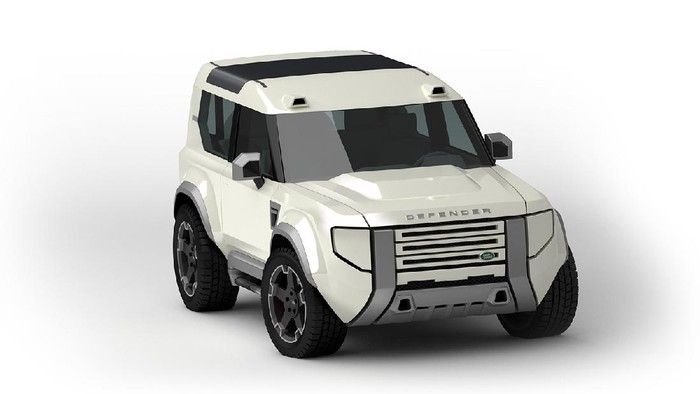 Rendering Land Rover Baby Defender