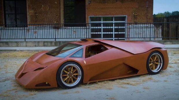 Supercar ini 90 persen terbuat dari kayu.