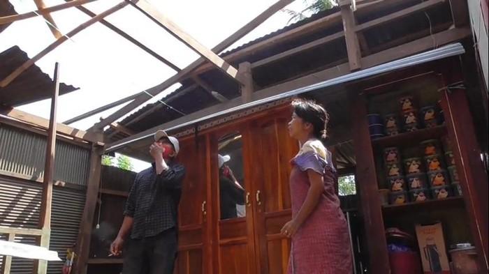 Tolong! Rumah Kakak Beradik Cacat di Polman Rusak Diterjang Angin