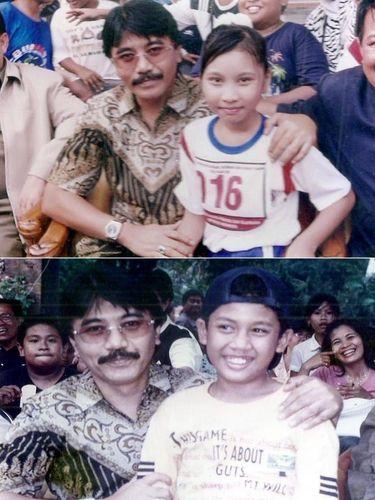 Nino dan Poojha Fatwala yang pernah dipangku oleh Adhyaksa Dault