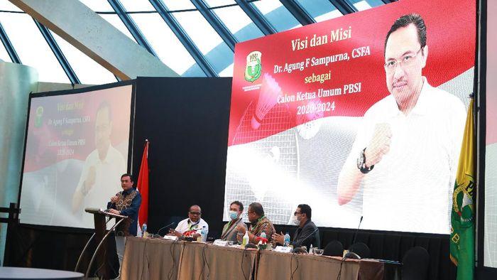 Agung Firman Sampurna terpilih sebagai Ketum PBSI 2020-2024.
