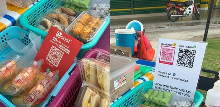 Canggih! Jualan Nasi Lemak di Pinggir Jalan, Penjual Ini Tak Terima Uang Tunai