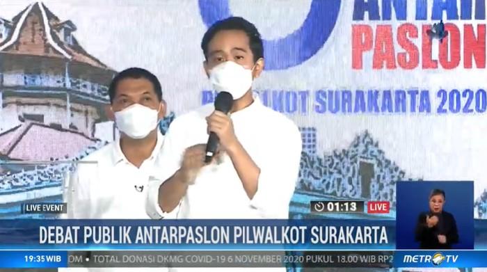 Cawalkot Solo Gibran Rakabuming Raka saat debat Pilkada Solo 2020