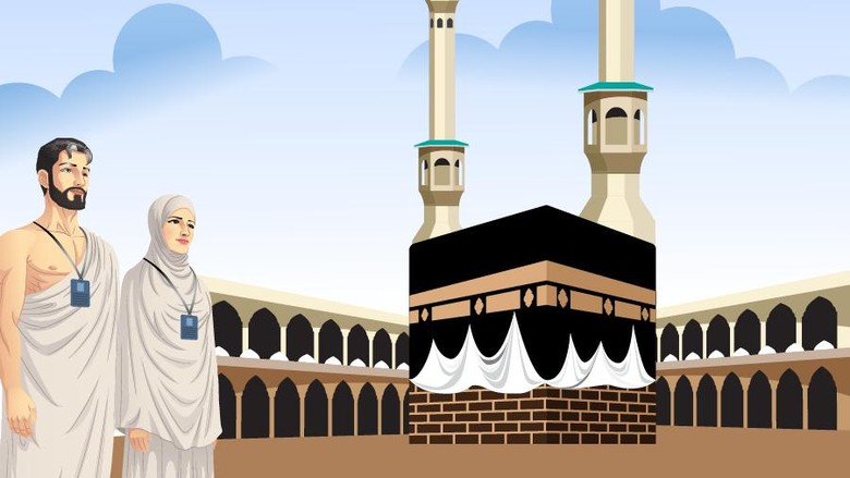 Ilustrasi ibadah haji dan umrah