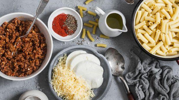 Macaroni Schotel Daging Cincang