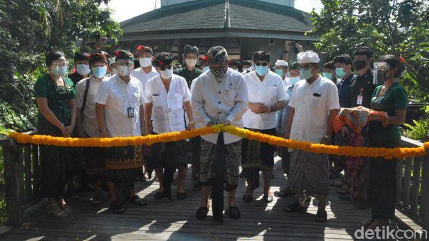 Wakil Gubernur Bali Tjokorda Oka Artha Ardhana Sukawati membuka kembali wisata monkey forest di Bali