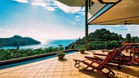 Hotel Tulemar Bungalows Manual Antonio merupakan pengembangan resor utama di Manuel Antonio. Resor hutan seluas 33 hektar ini berdiri di lereng bukit. Di dalamnya ada bungalows dan juga vila khusus. (TripAdvisor)