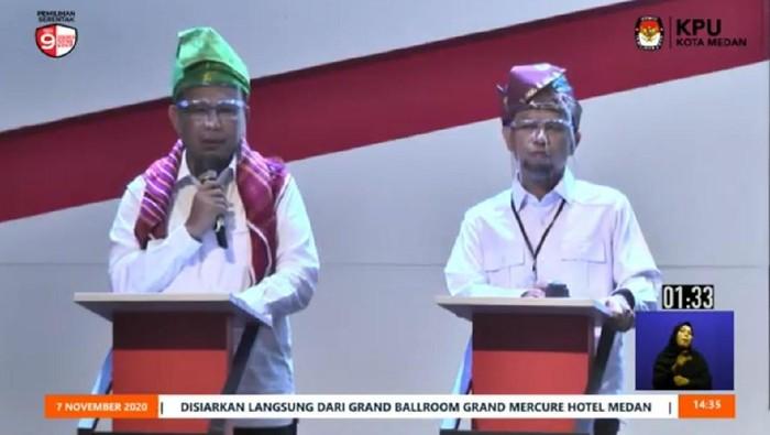 Akhyar Nasution dan Salman Alfarisi di debat Pilkada Medan (dok. YouTube Hupmas KPU Medan)