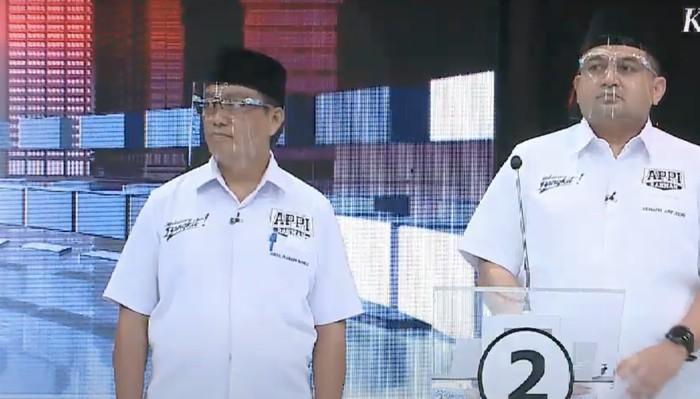 Appi-Rahman di debat Pilwalkot Makassar (dok. istimewa)