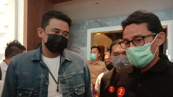 Bobby Nasution dan Sandiaga Uno (Ahmad Arfah-detikcom)