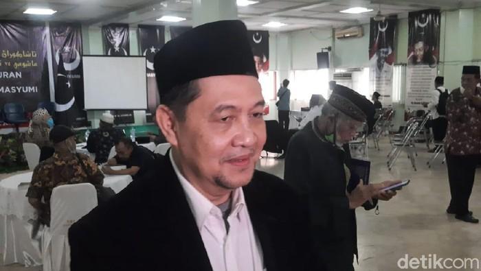 Komite Eksekutif Koalisi Menyelamatkan Indonesia (KAMI) Ahmad Yani usai acara deklarasi Masyumi reborn di Jakarta.