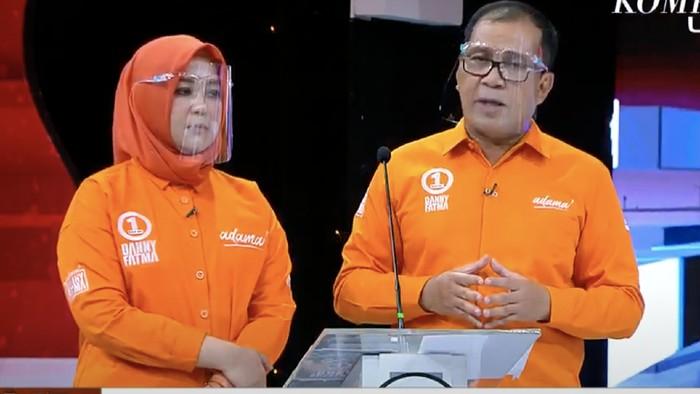 Paslon Danny-Fatma di Debat Pilwalkot Makassar (dok. Istimewa).