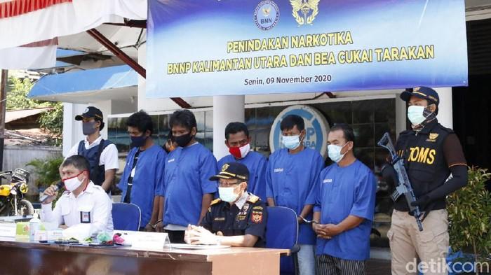 Bea Cukai Tarakan dan BNNP Kaltara menggagalkan upaya penyelundupan sabu dari Malaysia (dok Istimewa)