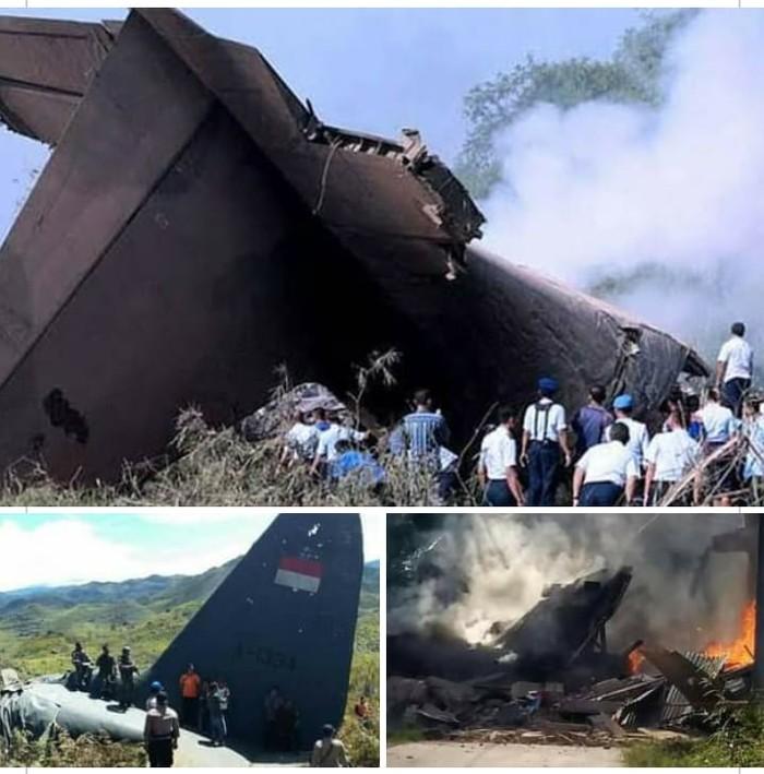 Kabar pesawat Hercules jatuh di Papua menangkut 100 prajurit ternyata hoax. Gambar yang beredar merupakan peristiwa kecelakaan pada 2016 lalu (dok Istimewa)