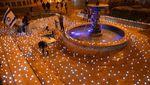 Kelap-Kelip Lilin Untuk Korban Corona di Israel