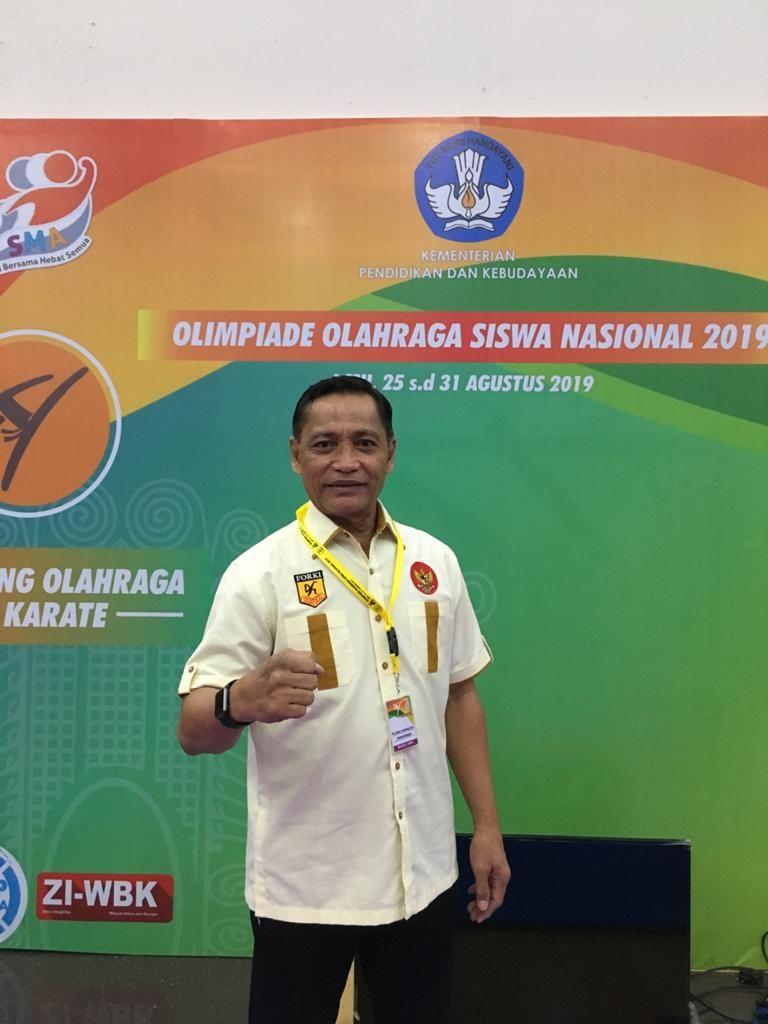 Kepala bidang Pembinaan Prestasi FORKI (Federasi Olahraga Karate-Do Indonesia), Djafar Djantang,