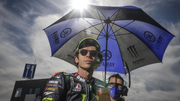 Valentino Rossi sebelum balapan MotoGP Eropa 2020.