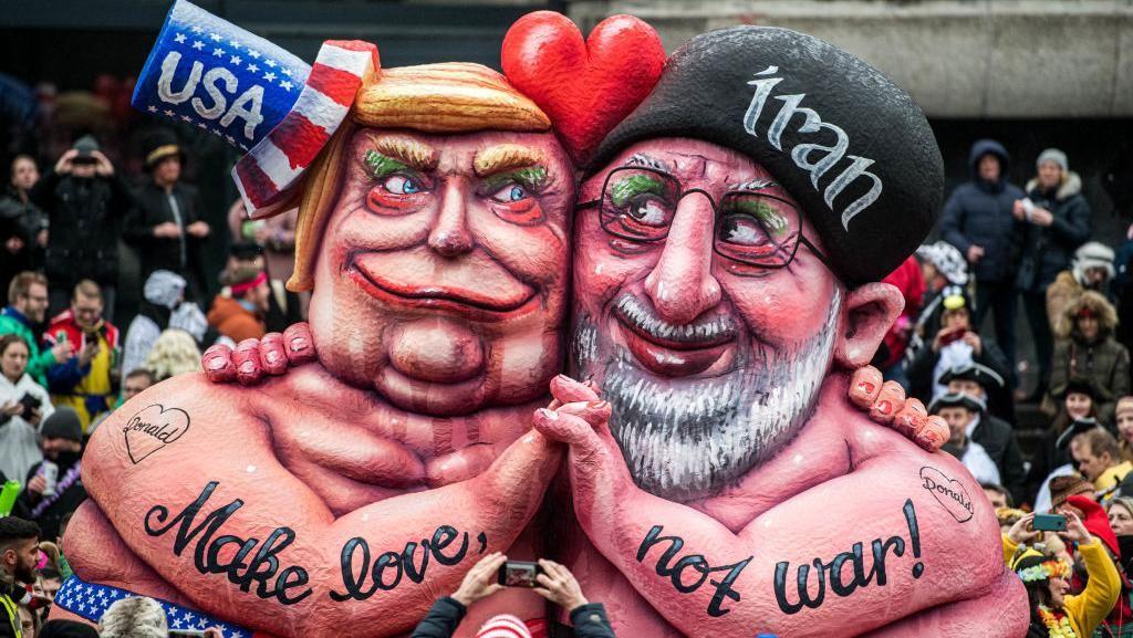 Ragam Karya Kocak Tentang Trump Selama Jadi Presiden